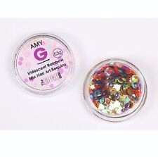 The Edge Iridescent Nail Art Sequins Rainbow Multi Coloured 0.5g Glitter AmyG