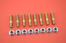 10mm Exhaust Studs & Serrated Nuts M10x1.25 Manifold Flange 8 studs 8 nuts