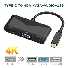 Type-C To HDMI VGA 3.5mm Audio Adapter 3 in 1 USB-C Converter Cable for Macbook