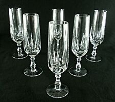 Rare Antique BACCARAT Flawless Crystal Set 6 x Champagne Goblet / Flute