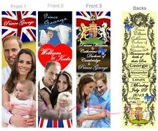 3 - GEORGE ALEXANDER LOUIS-PRINCE WILLIAM BOOKMARKS Baby Birth Announcement Card