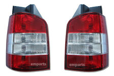 VW Transporter T5 Rear Back Tail Light Lens Lamp 2003 – 2010 Pair N/S O/S Red