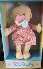 "New Wee Baby Stella Doll Peach Manhattan Toy 12"" Soft Baby Doll"