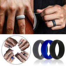 3PCS Men Women Wedding Ring Rubber Silicone Band Active Sport Gym