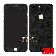 SopiGuard 3M Black Camo Vinyl Skin Full Body Wrap for Apple iPhone 7 Plus