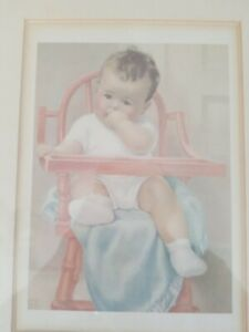 Bessie Pease Gutmann Print His Majesty Matted Framed