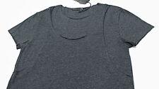 $258 DIWON Avant-Garde Raw-Seam Double-Layer Charcoal Tank + Tee T-Shirt Medium