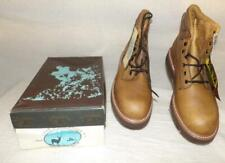 """Men'S Vintage """"Lake Of The World"""" Made Usa Work Hunting Leather 6"""" Boots Nos"""