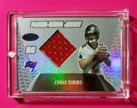 2003 Bowman's Best #105 CHRIS SIMMS (Buccaneers) Rookie Jersey *FREE SHIP* *WOW*
