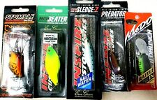 fishing lures EVERGREEN mixed x 5 crank bait minnows vibes rattle-in predator
