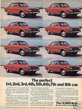 1972 Print Ad of Audi 100LS the perfect car