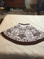 Womens Studio West 100% Cotton Skirt Size Large Brown Full