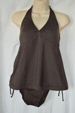 Old Navy Maternity Small Brown Halter Tankini Top & Bikini Bottoms Set Padded