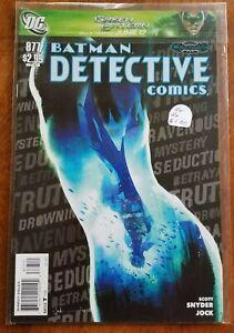 BATMAN DETECTIVE COMICS #877 DC COMICS  1 BOOK  COMIC LOT