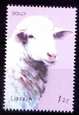 Dolly Sheep, 1st mammal cloned, Famous Animals, Science, Liberia 2001 Mnh