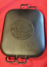 Vintage Cast Iron Japanese Lidded Fish Cooker Handled Stove Top Cookware