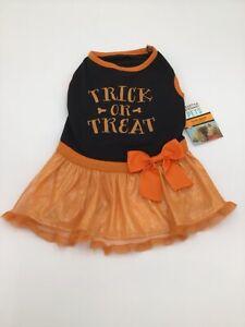 Martha Stewart Trick or Treat Orange Dog Dress Halloween Costume