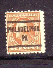 #465  4  CENT  WASHINGTON    PRE- CANCEL  PHILADELPHIA,PA       USED   a
