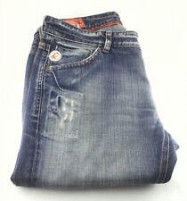 Façonnable Men's Jeans Size 40 x 33 Straight Distressed Blue Denim 36R EUC