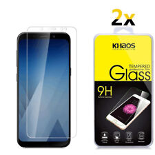 DESHENG Clear Screen Protector 25 PCS AG Matte Anti Blue Light Full Cover Tempered Glass for Galaxy A8+ 2018 Glass Film