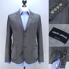 GIORGIO ARMANI $1950 Check PURE SILK Two Button Blazer 50IT 40US Made in Italy