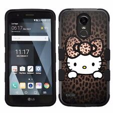 For LG Stylo 3 LS777 Hard Impact Armor Hybrid Case Hello Kitty #H