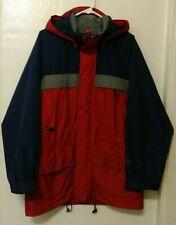 Vintage Eddie Bauer Ebtek Red & Blue Gore-Tex Rain Coat Jacket Men's Size Small
