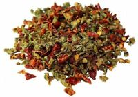 Dried Red and Green Bell Peppers Mix by It's Delish, 1 lb (16 Oz bag)