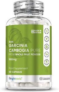 Garcinia Cambogia Kapseln - Mit 1000mg als Appetitzügler & Fatburner für Diät