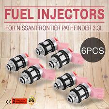 NEW Fuel Injectors 6pcs For Nissan 3.3L Frontier Pathfinder Xterra 1996-2004