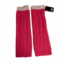NWT UGG AUSTRALIA $45 Womens Vibrant Hot Pink Knit Wool Leg / Arm Warmers