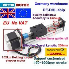 【EU】 200mm 1605 Linear Precision Ball Screw Z Axis Slide Stroke + Stepper Motor