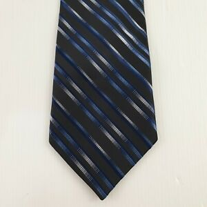 Hugo Boss Mens 100% Silk Hand Made Neck Tie Regimental Stripe L57 W4 TI24