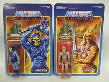SUPER 7 MOTU MASTERS OF UNIVERSE WAVE 1 HE-MAN & SKELETOR LOT REACTION MOC HTF