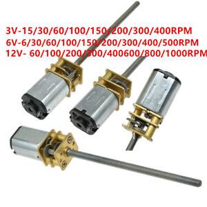 GA12-N20 Speed Reduction Gear Motor Gearbox Wheel Shaft 15-1000RPM DC3V/6V/12V