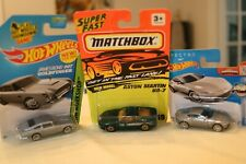 MATCHBOX SUPERFAST  ASTON MARTIN DB7 + 2 HOTWHEELS 007 A.M. DB5 & DB10 JOB LOT