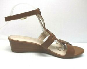 Cole Haan Size 10.5 Brown Leather Wedge Sandals New Womens Shoes