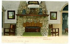 Piermont NY -COBBLE STONE FIRE PLACE -CASINO AT FORT COMFORT- Postcard