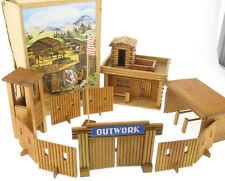 VERO 825 (444110) - FORT OUTWORK + OVP - Holz Western für DDR Indianer Figuren