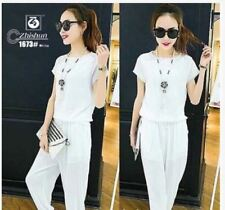 SHORT SLEEVE BLOUSE AND PANTS TERNO AG - WHITE