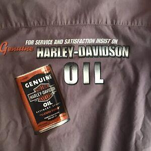 Genuine Harley Davidson Mens Button Up  Shirt Top Purple Size XL NWT