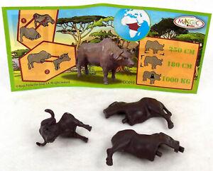DC010 BUFALO + BPZ KINDER SORPRESA ITALIA 2011/2012 ANIMALI AFRICANI