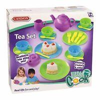 Casdon 665 Toy Tea Set Picnic Set 32 Piece Cups Saucers Plates Teapot Etc NEW