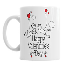 Happy Valentine's Day Mug Couple Holding Love Ballon's Boyfriend Girlfriend