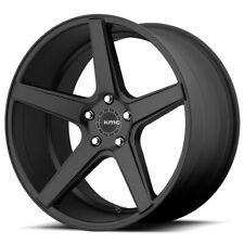 "4-KMC KM685 District 20x8.5 5x120 +35mm Satin Black Wheels Rims 20"" Inch"