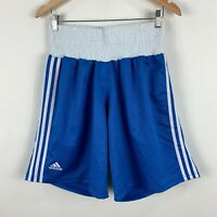 Adidas Mens Boxing Shorts Small Blue Elastic Waist