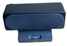 Black Sony SRS-GU10IP Stereo Speaker iPhone iPod Dock 30 PinConnector No Remote