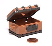 "Playmobil Pirate Castle Brown ""Wood"" Treasure Chest Trunk w/ Sliding Lock"