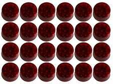 "24x 2"" LED Truck Trailer RV Side Marker Clearance Lights 9 LEDs RED"