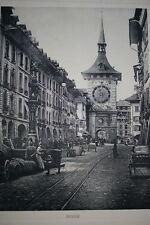 SUISSE BERNE  GRAVURE PHOTO -ANTIQUE  PRINT